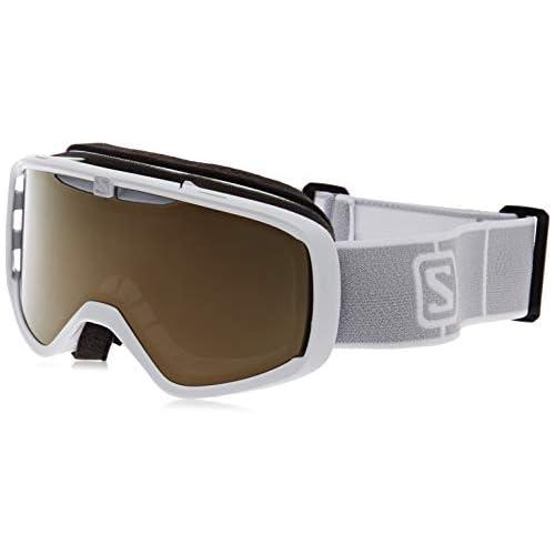 chollos oferta descuentos barato Salomon AKSIUM ACCESS Máscara de esquí Unisex Ajuste Mediano Pequeño Blanco Universal Gold L41151600