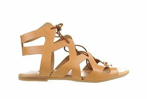 LINCE-Sandali in pelle di cammello ROMANA