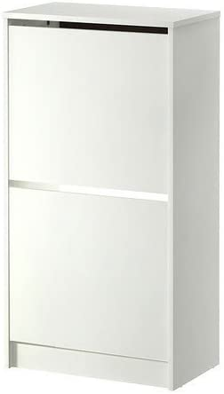 Ikea Bissa Armoire A Chaussures Blanc 2 Compartiments Amazon Fr