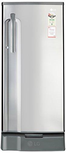 LG 188 L 1 Star Direct-Cool Single Door Refrigerator (GL-D191KPZU.APZZEBN, Shiny Steel)