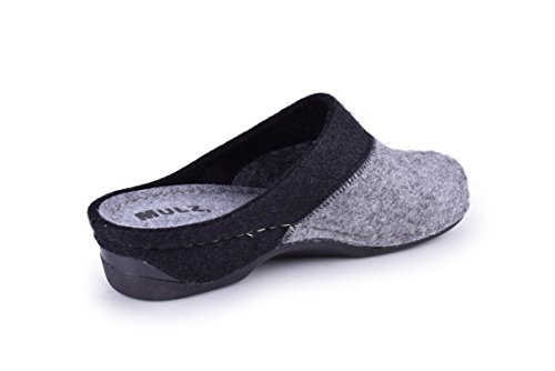 Mulz Women's House Shoes - Wool Indoor & Outdoor Slippers - Made in Europe Gray / Black reliable cheap online dgjqE1qtY