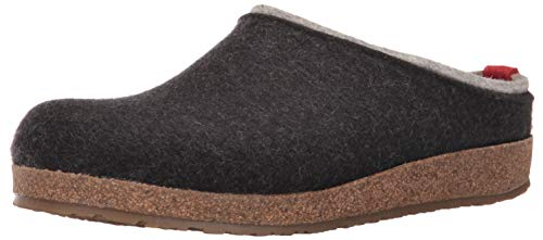 HAFLINGER Kris Clogs-and-Mules-Shoes, Charcoal, 37 (US Women's 6) Medium from HAFLINGER
