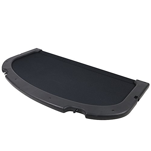 Cargo Cover Compatible With 2002-2006 Acura RSX | Factory Style Black Trunk Privacy Cover Luggage Cover By IKON MOTORSPORTS | 2003 2004 2005