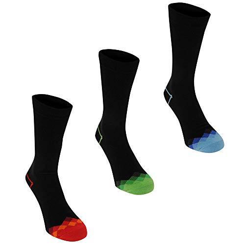Kangol Men's Formal Socks, 3-Pack Check Toes 8-12 ()