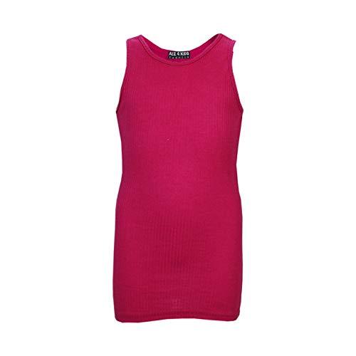 Coton 11 Gilet Tops 8 13 5 7 Shirts Designer 10 4 6 9 Tank Enfants Filles T Rouge Kids Âge A2z Ans Nervure 12 100 Mode Top Xzqw7BA