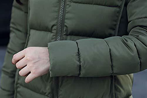 Verde Lunga Parka Outerwear Esercito Inverno Casual Piumino Tops Giaccone Moda Coat Tenere Autunno Donna Lunghezza Jumper Media Cappuccio Cime Con Cappotti Manica Hoodie Caldo Piumini SgnHad7p