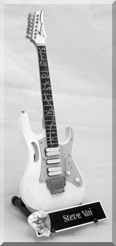 STEVE VAI Guitarra en miniatura con púa de guitarra White Ibanez