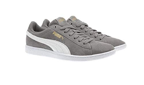 (PUMA Ladies' Vikky Suede Shoe (7.5, Grey))