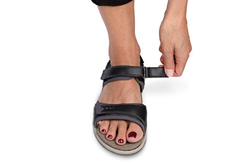 Orthofeet Proven Heel and Foot Pain Relief. Extended Widths. Orthopedic Diabetic Arch Support Women's Orthotic Sandals, Malibu