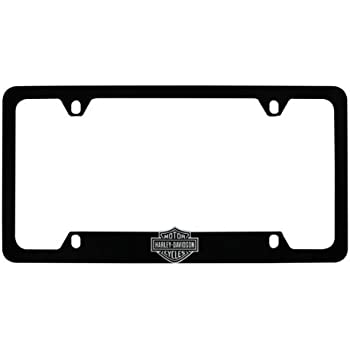 Amazon.com: Harley-Davidson Flat Matte Black License Plate Frame ...
