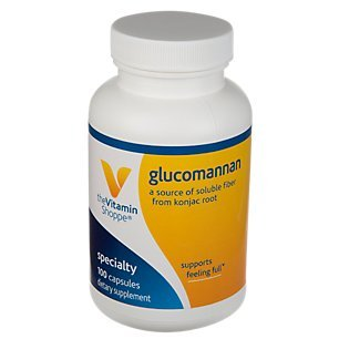 The Vitamin Shoppe Glucomannan 1.99GM, A Source of Soluble Fiber from Konjac Root, Supports Feeling of Fullness, Helps Maintain Blood Glucose Levels Already Within The Normal Range (100 Capsules)