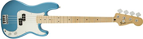 Fender Standard Precision Electric Bass Guitar - Maple Fingerboard, Lake Placid Blue