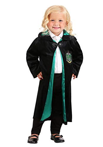 Jerry Leigh Harry Potter Toddler Deluxe Slytherin Robe 4T Black