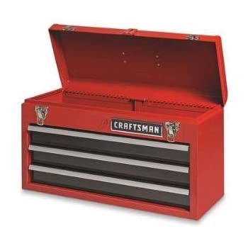 Image result for craftsman 3-drawer metal portable chest toolbox red