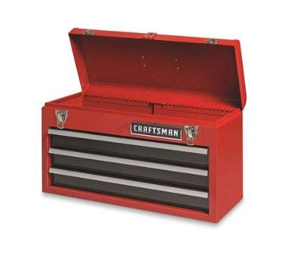 - Craftsman 3-Drawer Metal Portable Chest Toolbox Red