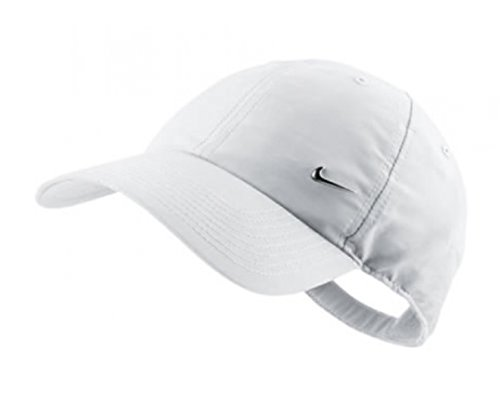 Nike Men's Metal Swoosh Cap (One Size, White)