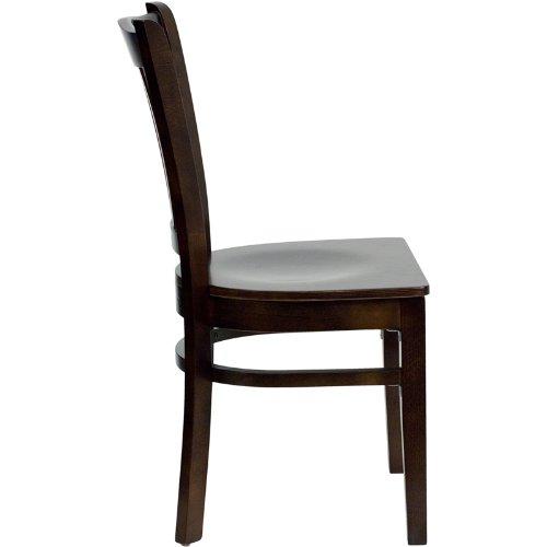 Flash Furniture HERCULES Series Vertical Slat Back Mahogany Wood Restaurant Chair by Flash Furniture (Image #1)
