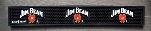Jim Beam Bar Rail Spill Mat Black NEW ()