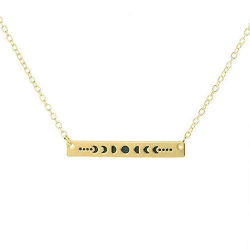 Mikash Moon Phase Necklace Alloy Pendant Women Charm Jewelry Gift Silver Gold Chain | Model NCKLCS - 42214 | -