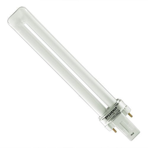 (10 Pack) SYLVANIA 21136 - CF13DS/827/ECO - 13 Watt CFL Light Bulb - Compact Fluorescent - 2 Pin GX23 Base - 2700K (2 Pin Gx23 Base)