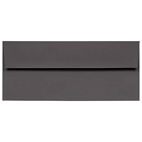 JAM PAPER #10 Business Premium Envelopes - 4 1/8 x 9 1/2 - Dark Grey - 50/Pack