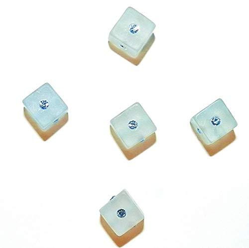 Bead Jewelry Making Light Sapphire Swarovski Crystal & Blue Resin 8mm Square Cube Beads