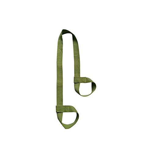 Nachvorn Adjustable Yoga Mat Strap Sling, Durable Cotton Carry Strap,Green