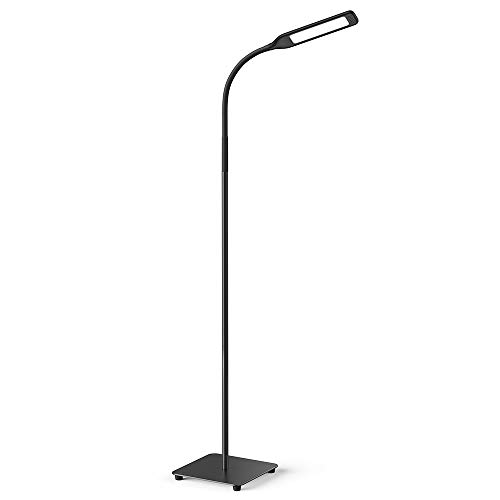 Miroco LED Floor Lamp with 4 Brightness Levels and 4 Colors Temperatures, Adjustable LED Floor Light, Dimmable Adjustable Reading Standing Lamp for Sewing Painting Piano Living Room Bedroom Office