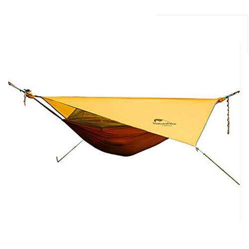 Naturehike New Upgrade 1 Person Hammock with Bed Mesh Ultralight Waterproof Hanging Tent (orange+red)