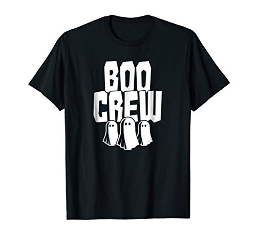 Boo Crew T-Shirt Funny Halloween Ghost Gang Squad -