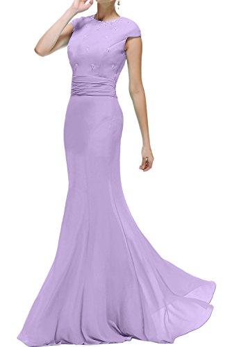 Ballkleider Rundkragen Promkleid Abendkleider Damen Ivydressing Lila Meerjungfrau Brautmutterkleid Lang wIqvS0fSx