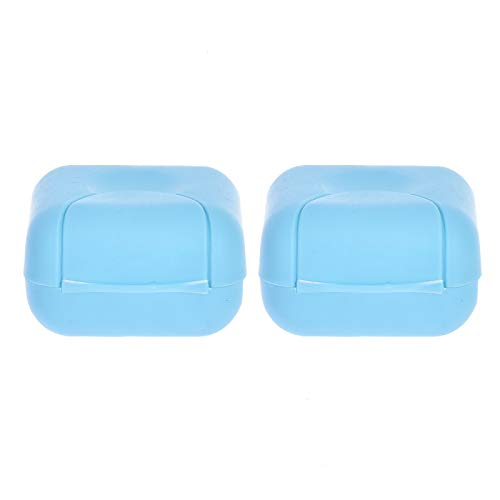 Gaiatop Soap Case, 2PCS Beautiful and Lovely/Cute Portable Home/Outdoor Hiking/Traveling/Camping Candy Color Soap Container/Case/Box/Holder/Organizer Small Size Blue Color by Gaiatop