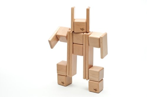52 Piece Tegu Original Magnetic Wooden Block Set, Natural by Tegu (Image #4)