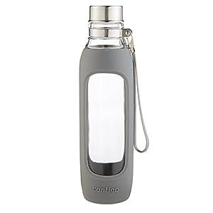 Contigo Purity Glass Water Bottle, 20-Ounce, Smoke