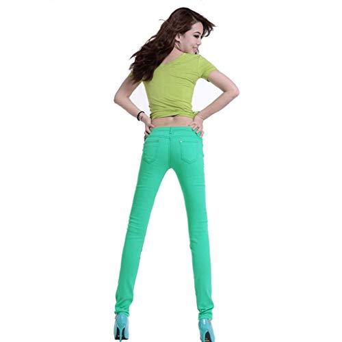 Sottili Pantaloni 12 Rxf Donna Jeans Da Con Fianchi Slim Estivi 8Uv5p1q