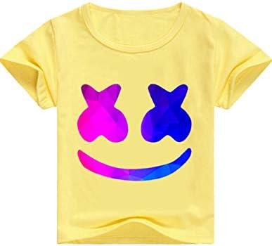 マシュメロ T 셔츠 키즈 투어 아동복 DJ 음악 반 남자 애 다니는 꽃 옷 소년 소녀 경상 학생 편안 하 고 예쁜 셔츠 멋 할로윈 / Mashmelo T-shirt Kids Travel Kids Clothes DJ Music Short Sleeve Boy Girl School Flower Viewing Clothes Boys Gir...