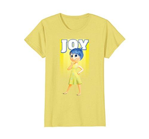 Womens Disney Inside Out Joy Portrait Graphic T-Shirt Small (Inside Out Ladies T-shirt)