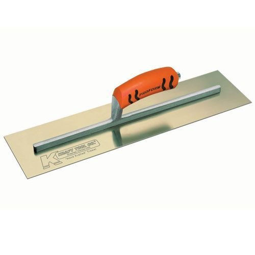 Kraft Tool CF548PF Golden Stainless Steel Cement Trowel with ProForm Handle, 18 x ()