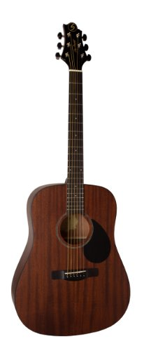 Samick Music Corp Gold Rush D1 SN Dreadnought Acoustic Guitar, Satin Natural