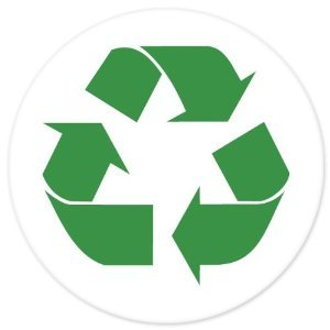 Recycle SIGN Green sticker decal circle 4