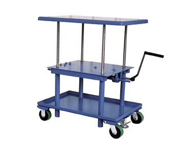 Rolling Workbench - Low Profile - AC Power - BMT Series; Platform Size (W x L): 24'' x 36''; Capacity (LBS): 2,000; Raised Height: 42''; Lowered Height: 24''; Caster Type: 7'' x 4'' polyurethane