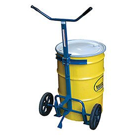 Vestil DBT-1200-P Steel Drum Truck with Y Handle, Poly-On-Steel Wheels, 800 lbs Load Capacity, 60'' Length X 29'' Width by Vestil