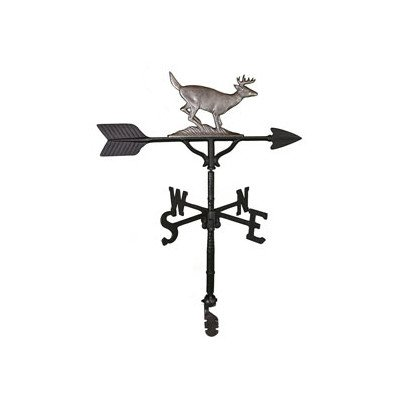 Montague Metal Products 32-Inch Weathervane with Swedish Iron Buck Ornament