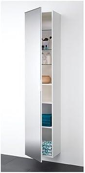 IKEA GODMORGON - Alto armario con puertas de espejo, blanco ...