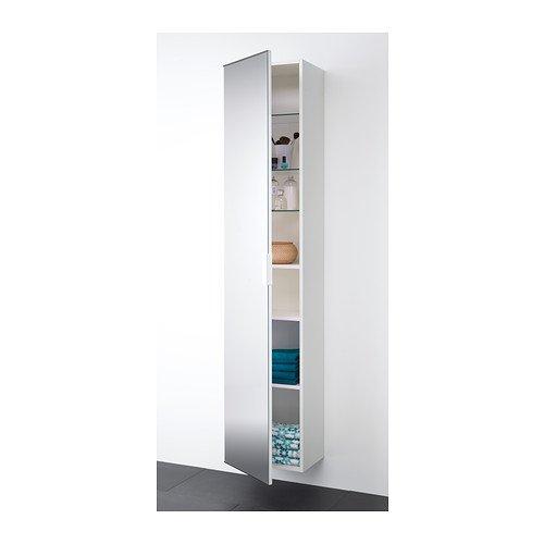 IKEA GODMORGON - Hochschrank mit Spiegeltür, weiß ...