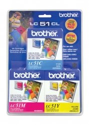 Brother LC-51 Color Ink Cartridge Multipack, Brother - Black Lc51 Ink