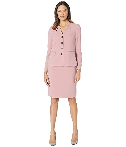(Tahari by ASL Women's Skirt Suit with Inverted Collar Primrose 6)
