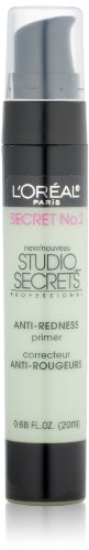 L'Oréal Paris Studio Secrets Professional Anti-Redness Correcting Primer, Green, 0.68 fl. oz.