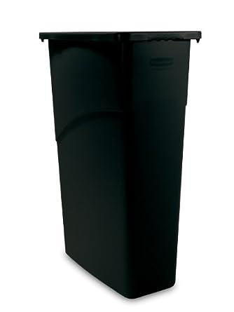 Rubbermaid slim jim waste container 87 l black industrial scientific - Slimline waste bin ...