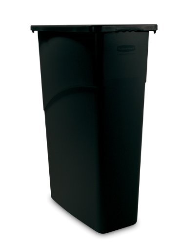 Rubbermaid Slim Jim Waste Container, 87 L - Black